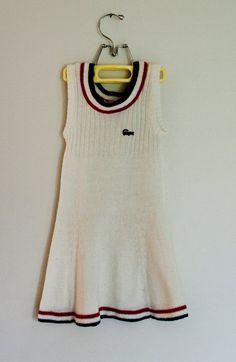 Vintage Lacoste, tennis dress!