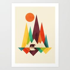 Buy Bear In Whimsical Wild Art Print by Picomodi. Worldwide shipping available at Society6.com. Just one of millions of high quality products available.
