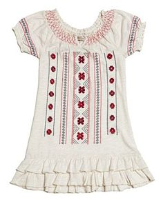 Toddler Embroidered Mena Dress - Lucky Kid - Lucky Brand Jeans.  Want this for my  girls!