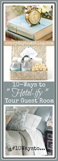 """Welcome to the 2015 Southern Home Fall Tour - Several weeks ago, I shared to """"Hotel-ify"""" Your Guest Bath. I thought it would be a g - Guest Bedroom Colors, Guest Room Decor, Guest Room Office, Guest Bedrooms, Bedroom Decor, Bedroom Ideas, Cottage Bedrooms, Bedroom Stuff, Master Bedrooms"""