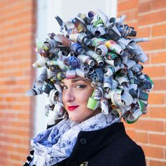 DIY Newspaper Wig | Whimseybox. I have to remember this for this next halloween.