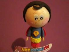 Fofulapices Superheroes Para fiestas Infantiles Superman Foamy Gomaeva Artfoamicol Patrones - YouTube