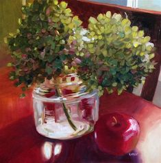 "Daily Paintworks - ""Catherine's Kitchen"" by Libby Anderson"