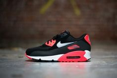quality design 24248 fe9c0 Bbvo Nike Air Max 90 Unisex Black Gray Red Coal Black Nike Huarache