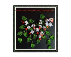 A Journey into Quilling & Paper Crafting: Quilled-Flower-Frame- Bleeding Heart