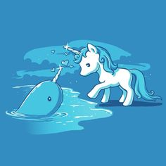 Forbidden Love ||| narwhal & unicorn ||| Women's Ultra Slim fit tee from Tee Turtle