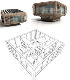 Sitting on a square that is only six feet across in each direction, the Fincube cabin sits solidly on a platform that both affords it better views and keeps it from physically impacting the forest floor below it. It is also constructed to work as well in fall and winter as it does in spring and summer.
