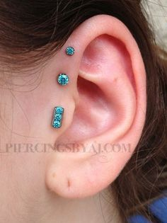 The Tragus + Forward Helix | 28 Adventurous Ear Piercings To Try This Summer