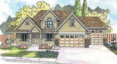 House Plan chp-32606 at COOLhouseplans.com The house with the RV space.