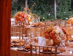 Decoração de Casamento Laranja, Nude e Champagne