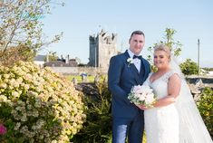 Beautiful Bride and Groom Dawn and Eddie posing in front of Claregalway Castle  Photography by Klickapick Photography Church Ceremony, Civil Ceremony, Wedding Ceremony, Bride Speech, Best Wedding Venues, Father Of The Bride, Intimate Weddings, Wedding Gallery, Bridal Looks