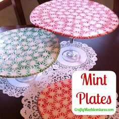 Crafty Home Improvement (Mis)Adventures: Mint Plates & Miss Kimmy