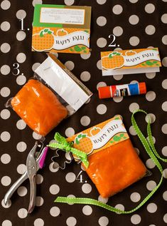 """Happy Fall"" Free Printable Perfect for Fall or Halloween - could use for playdough, candy, etc! Fall Party Favors, Diy Party, Party Ideas, Gift Ideas, Kids Fall Crafts, Toddler Crafts, Holidays Halloween, Halloween Fun, Childrens Halloween Party"