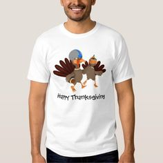 Game Time Thanksgiving Turkey Football T Shirt