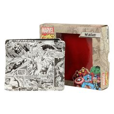 Peněženka Marvel Outside Print Wallet Black/White