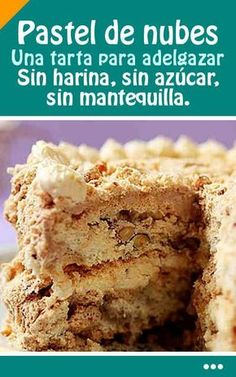 Pastel De Nubes. Una tarta para adelgapastel de nubes sin arina zar.