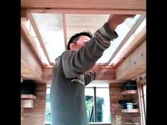 Love this! Japanese Tiny House - 木製キャンピングトレーラー Basket  Pop up roof - YouTube