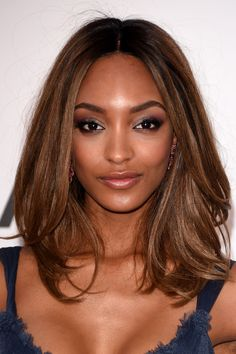 Models are assumed to have damaged hair due to all the on-set heat styling they endure, but model Jourdan Dunn pretty much shot down that theory with this healthy, shiny look. To work her look: Rough dry your hair (aka use your hands as you blow-dry instead of a brush and flip your head over) until it's 85 percent dry. Then, give your hair polish — and a slight bend at the ends — by using a round boar-bristle brush as you finish drying. (Try Sephora Collection Boar RoundBrush, $22…