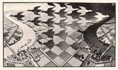 Uno dei più celebri disegni di Escher