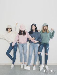Korean Fashion Similar Look | Official Korean Fashion - ripped jeans