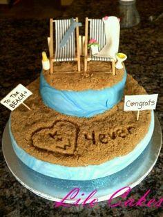 Beach cake! Wedding Ideas On A Budget | Beach Wedding on a Budget