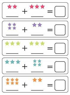 Spring Math Centers for Kindergarten Math Addition Worksheets, Printable Preschool Worksheets, Free Kindergarten Worksheets, Preschool Learning Activities, Preschool Math, Fun Worksheets, Math For Kindergarten, 5 Year Old Activities, Free Printable
