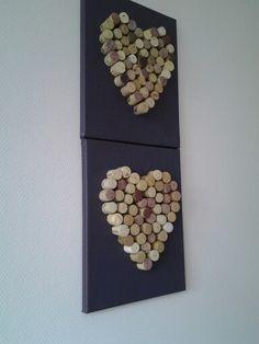 Creatief hart met kurk