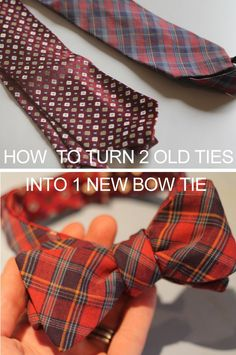 Captain Dapper: Dapper DIY: Turning Two Dated Old Ties Into One Reversible Bow Tie