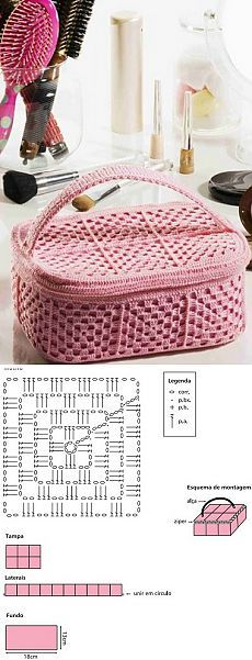 Вязание косметички крючком