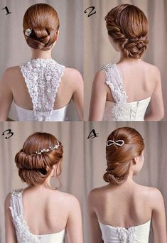 Share the elegant hairstyle to bride, it must be useful. (^o^)/