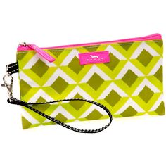 SCOUT by Bungalow Greenland Kate Wristlet ($8.99) ❤ liked on Polyvore featuring bags, handbags, clutches, yellow handbags, yellow purse, print handbags, yellow clutches and wristlet purse