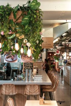 A hospitality interior design project by Pocketspace Interiors in Auckland, New Zealand. Serving south-east Asian street food, this space boasts culture and simplistic, natural materials. The restaurant has an open kitchen which is the focal point of the space, complemented by industrial steel and soft plants.  #hospitalitydesign #interiordesign #auckland #newzealand #restaurant #smallspacedesign #smallspace #hospitality #asian #plantdesign #interior #contemporary #modern #natural