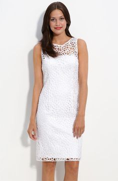 Adrianna Papell Lace Sheath Dress (Petite) available at #Nordstrom