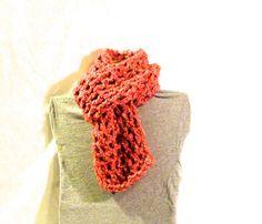 Double crochet, 9 stitch, pink scarf