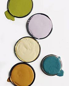 palette de couleurs de peintures à la caséine