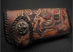 Biker-Leather-Wallet-with-Dragon-and-Cross-K04E22-Lw1722