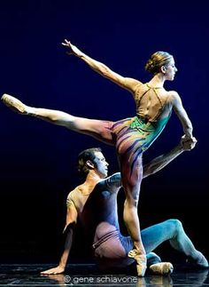 """Jennie Somogyi and Charles Askegard performing in Margo Sappington's """"Entwined."""" (Photo © Gene Schiavone. Taken at The Joyce Theater, 21 Nov. 2011.)"""