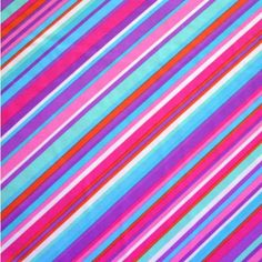 The Fabric Fairy Colorful Bias Stripes Nylon Lycra Swimsuit Fabric by Anita G