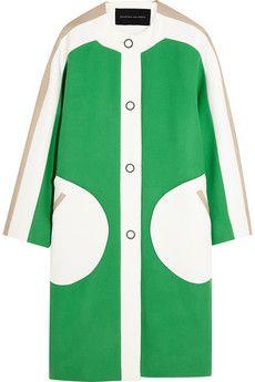 Jonathan Saunders Carmen color-block wool coat | NET-A-PORTER