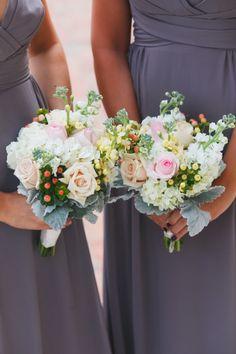 bright and bountiful bridesmaid #bouquets