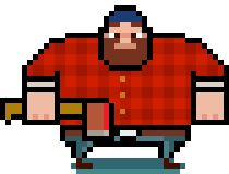 Timberman - addictive oldschool arcade style casual game for iOS, Android, Windows Phone devices and Steam