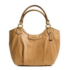 Price: $237.00 | Coach Ashley Leather Tote Camel Top Handle Bag