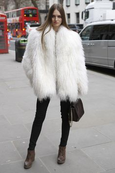 Coloured monster fur LFW | Women's Look | ASOS Fashion Finder