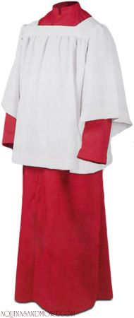 Abbey Brand Altar Server Roman Cassock Red