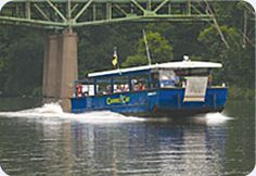 Located in Moline, Illinois in the Quad Cities, explore the majestic Mississippi river aboard the Channel Cat Water Taxi.     Tickets are for all day, unlimited use. Buy your tickets on board the Channel Cat or at Centre Station Gifts, 1200 River Drive, Moline, IL. You can also take your bicycle on board and travel to bike paths on both sides of the river!