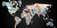Just in case you're going on holiday, and wanted a beautiful - but not entirely practicaly-way to figure out what currency you'll need, we've got you covered. This stunning map wasoriginally made in 2012 by Reddit user The310Investigator, and represents the currencies of every country around the world. It took 12 hours to complete, apparently. Here it is: