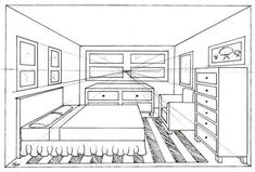 perspective room drawing com art favourites by on one point perspective room 1 point perspective two point perspective interior drawing One Point Perspective Room, 1 Point Perspective Drawing, Perspective Art, Interior Architecture Drawing, Drawing Interior, Interior Design Sketches, Bedroom Drawing, Drawing Activities, Designs To Draw