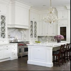 White Kitchen Design Ideas Love The Cabinet For Dishes And That Cabinetry Is Ceiling Height Dream Home Pinterest