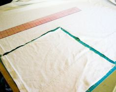 How to turn a flat sheet into a fitted sheet.