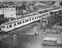 Αθήνα σταθμός Άνω Πατήσια, 1956 Yesterday And Today, Athens Greece, Old Photos, Paris Skyline, Greek, Bridges, World, Trains, Painting